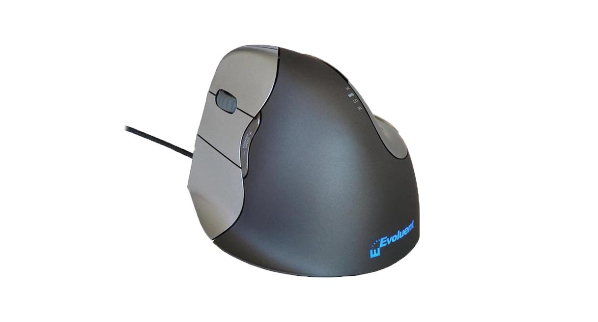Six programmable buttons give users more versatility on the Evoluent Vertical Mouse 4: Left Hand Wired Mouse
