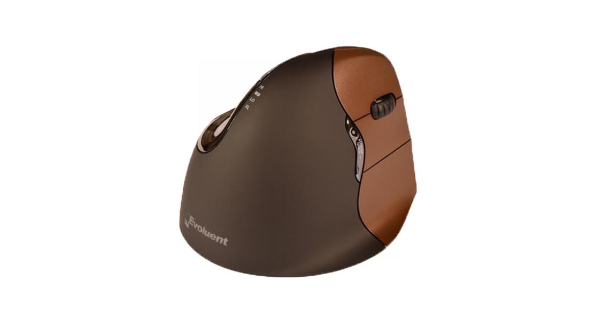 Six programmable buttons give users more versatility with the Evoluent Vertical Mouse 4: Small Right Hand Wireless Mouse VM4SW