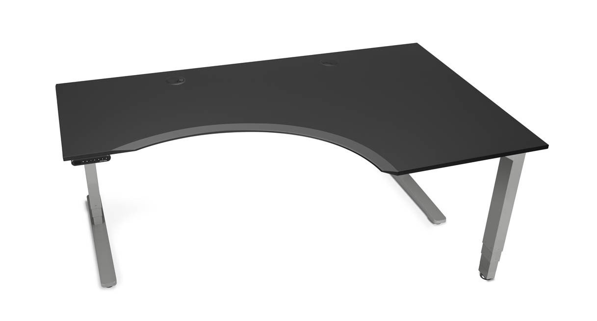 An UPLIFT Eco Corner L-Shape Sit-Stand Desk is a great desk where space is a premium