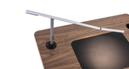Grommet mount secures light to desk