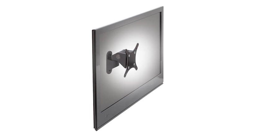quickly reposition your monitor with one hand sans knobs with the innovative lcd monitor wall