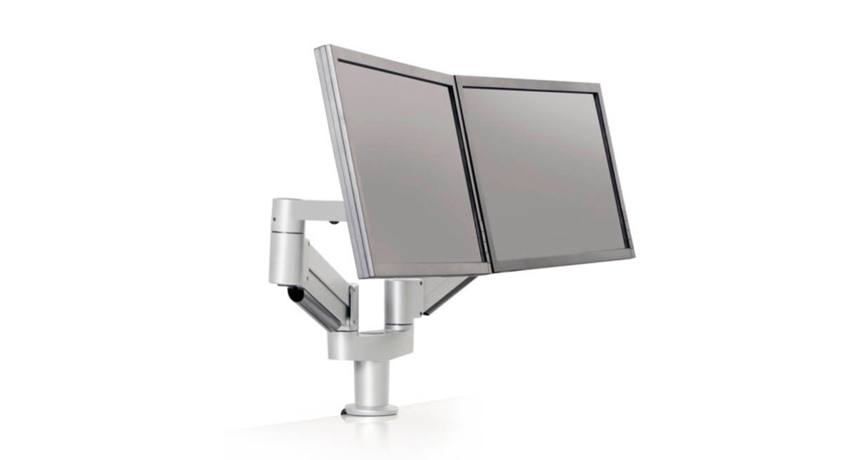 Flexible dual screen positioning is made simple with the Innovative Dual 7000 Mount LCD Arm