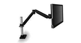 Adjust the height of the 3M Easy-Adjust Monitor Arm MA240MB to your preferred levels