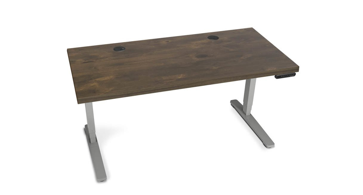 The UPLIFT Standing Desk with Solid Wood Top is a stunning and rustic way to transform your work for the better