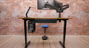 Enjoy better workplace ergonomics with the help of the UPLIFT Space Saver Standing Desk