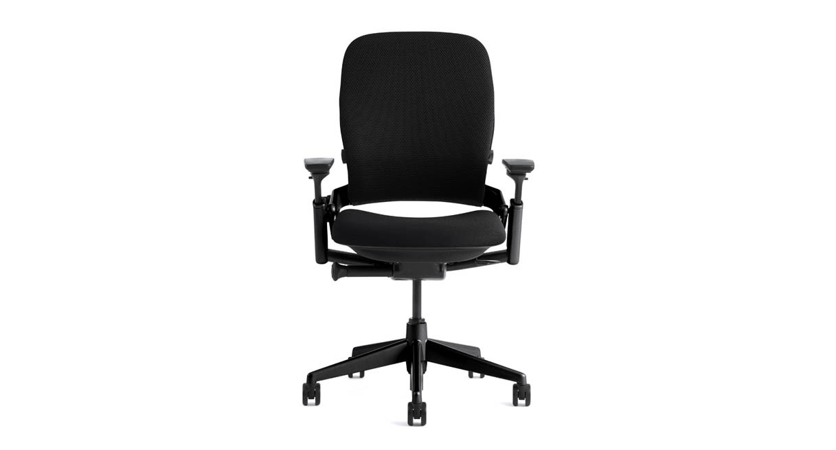 The Steelcase Leap Ergonomic Office Chair offers strong lumbar support to ensure your lower back doesn't strain