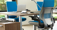 The Gesture Chair's seat slider offers quick seat depth customization for users of different heights