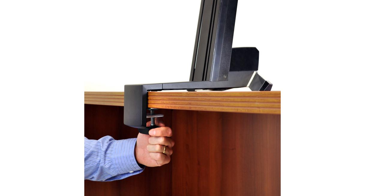 Ergotron workfit d sit stand desktop workstation radius office - Shop Ergotron Workfits Sitstand Workstation