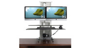 "Monitor mounting system is completely modular and can be upgraded to support up to 4 - 27"" monitors"