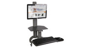 The HealthPostures TaskMate Go 6300 Desk Converter allows users to vary postures easily
