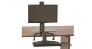 Easily fits onto corner desks or cubicles
