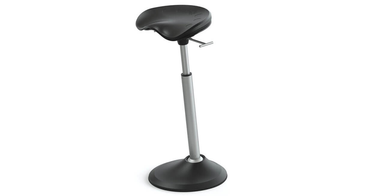 """The Focal Mobis II Seat's rotating and tilting stool encourages """"active sitting"""" and uses your body's natural dynamics to give you optimal support"""
