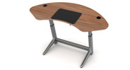 Desktop surface made with natural wood veneers and is constructed in the USA