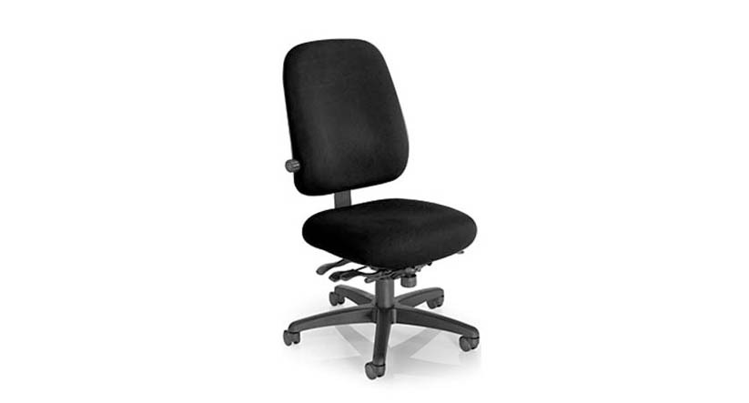 Mild saddle-contoured seat cushion on the Office Master Paramount Value PT78 Chair