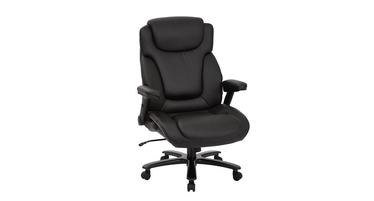 Office chairs for big and tall - Thickly Padded Contoured Seat And Back