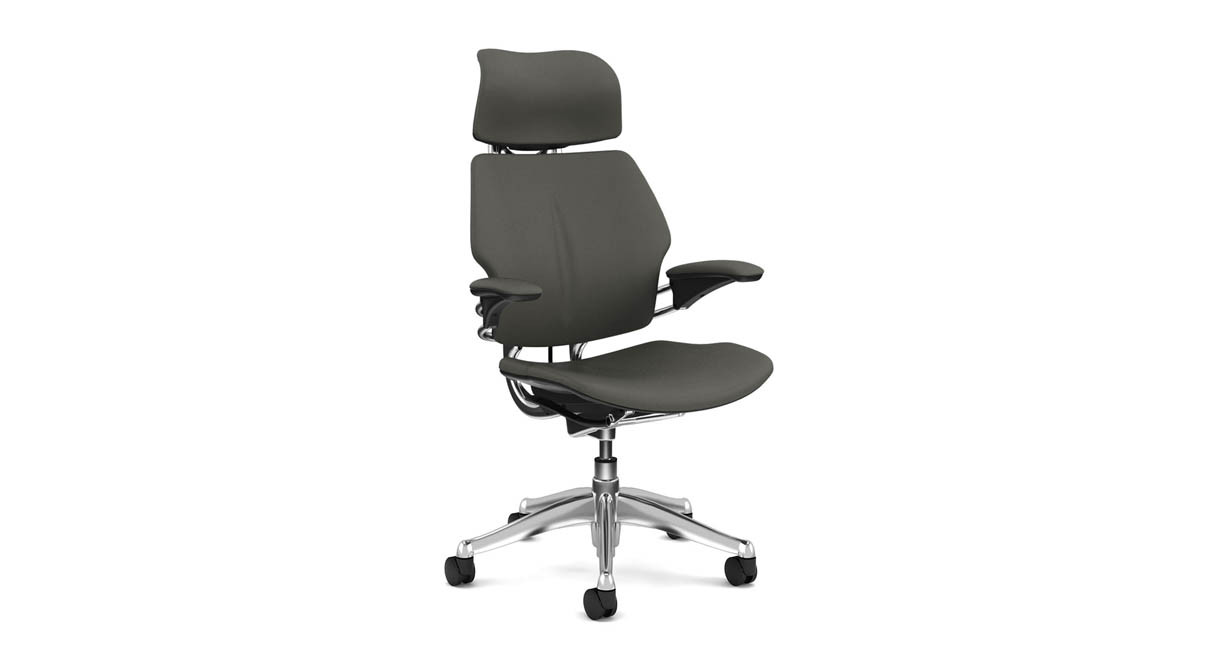 Humanscale freedom chair leather - Contoured Cushions Are Sculpted To The Body