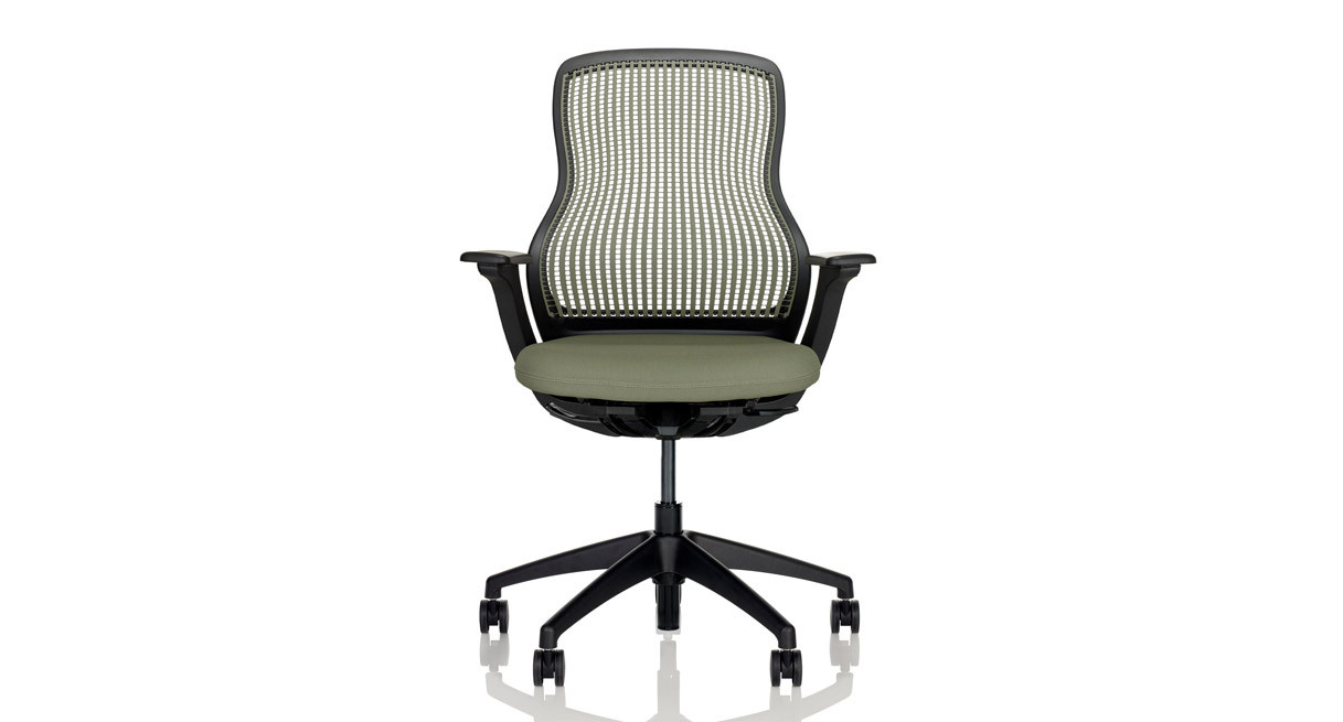 Recline resistance control allows for greater support while seated in an upright position
