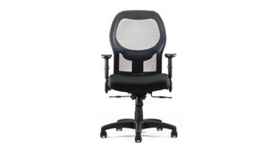 """Generous multi-density foam in a contoured seat which sports a """"waterfall"""" design in front to alleviate pressure from the back of the knees"""