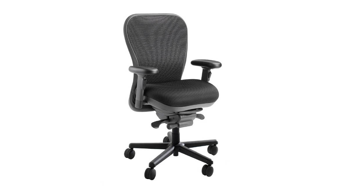 Office chairs for big and tall - Steel Reinforced Frame And Heavy Duty Pneumatic Cylinder Offer A 450 Lb Weight Capacity