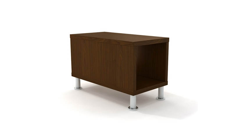Slim design fits in most spaces