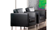 Flush arms allow multiple Lincoln Lounge chairs to be placed side by side