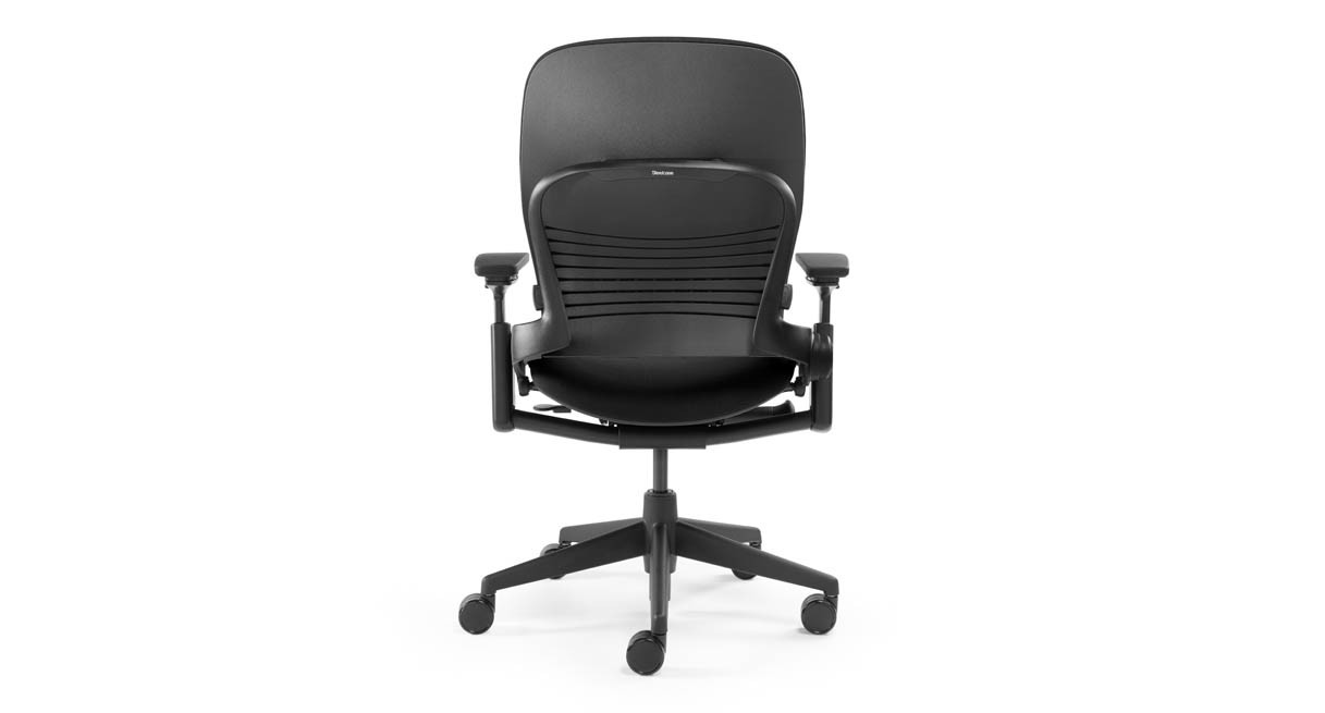 steelcase leap chair  open box clearance - seat depth adjustment lets you slide the seat forward and back forpersonalized seating