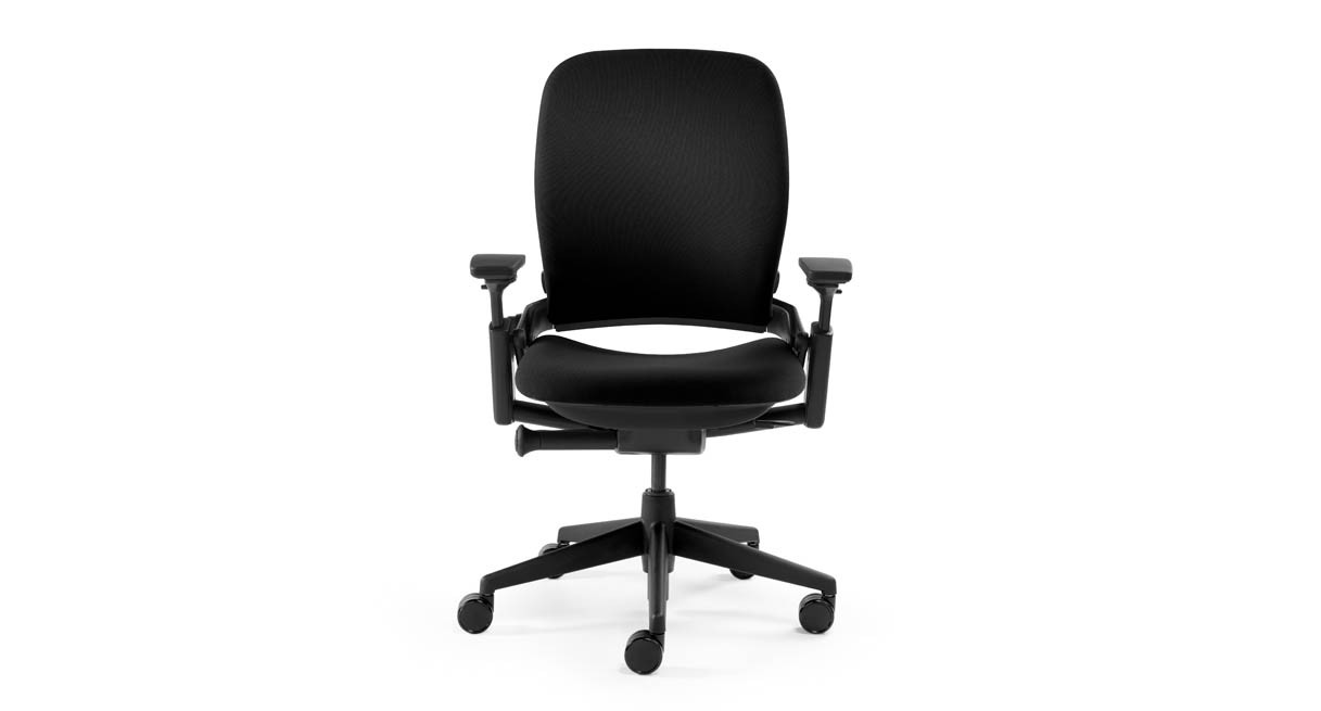 Responsive LiveBack technology lets the padded, contoured chair back flex with your spine as you move