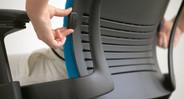 The Leap's ergonomic design promotes healthy postures