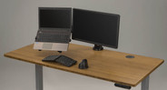 The UPLIFT View comes in both single and double monitor models, with an option to add on a laptop arm