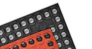 Notrax 551 MD ramps and connectors are used to  convert mat edges to a beveled edge