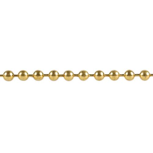 Ball Chain -  2.4mm - Brass