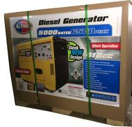 New All Power Silent Diesel Generator 6500 Watts Max Electric Start APG3202N