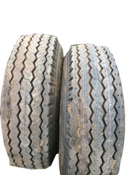 2 New Tires 9.50 16.5 Duro Hf Foam Filled NHS Mounted on Rim Wheel 10 Ply Farm