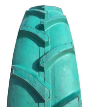 New Tire 11.2 38 Asha Vortexx Green 6 Ply Tube Type Buff Blem R-1 Blemish
