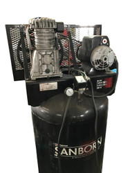 Used Air Compressor Coleman Sanborn 80 Gallon 6.5 HP 11.9 CFM 2 Stage 230V