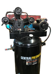 Used Air Compressor Central Pneumatic 60 Gallon 5 HP 2 Stage 230V 165psi