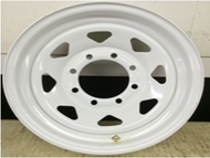 16 Rim 16x6 8Bolt 8x6.5 White 5in Center Spoke Trailer Wheel