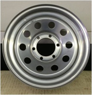 16 Rim 16x6 6Bolt 6x5.5 Silver 4in Center Mod Trailer Wheel