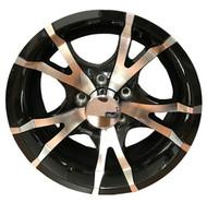 "New 15"" Sendel T07 Aluminum Trailer Wheel 15x6 5x4.5 5 Bolt with Center Cap"