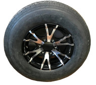 225 75 15 Noble 10 Ply Trailer Tire Mounted on Sendel T07 Aluminum Wheel 6x5.5 6 Bolt  ST225/75R15