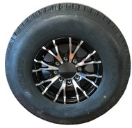235 85 16 New Hawkway 14 Ply All Steel Trailer Tire Mounted on Sendel T07 Aluminum Wheel 8x6.5 8 Bolt ST235/85R16