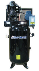 New American Industrial 80 Gallon Air Compressor 5 HP 22 CFM 2 Stage 220V Free Shipping