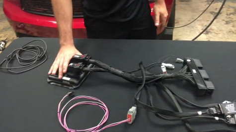 Installation of an AEM Control Pack Harness on a car with a Ford Racing Control Pack