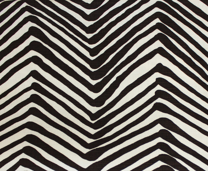 Quadrille Alan Campell Zig Zag Brown On Tint