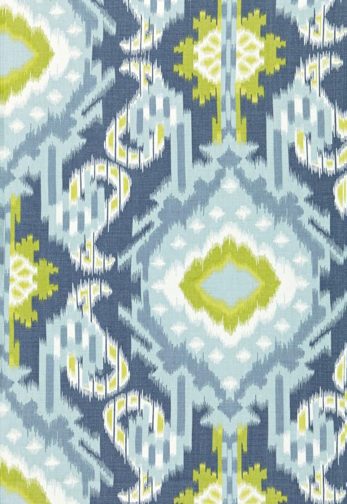 Schumacher Kiribati Ikat Print Aquamarine