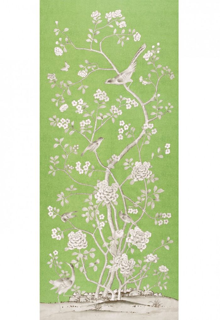 Schumacher Mary McDonald Chinois Palais Lettuce (Priced and Sold by the 3.75 Yard Full Panel)
