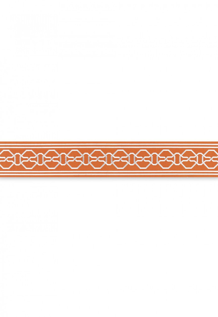 Schumacher Mary McDonald Malmaison Tape Tangerine 66152