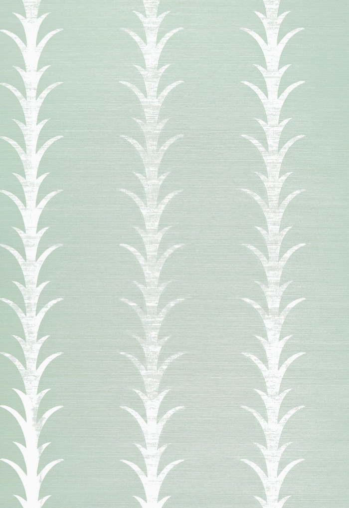 Celerie Kemble Acanthus Stripe Seaglass & Chalk Wallpaper
