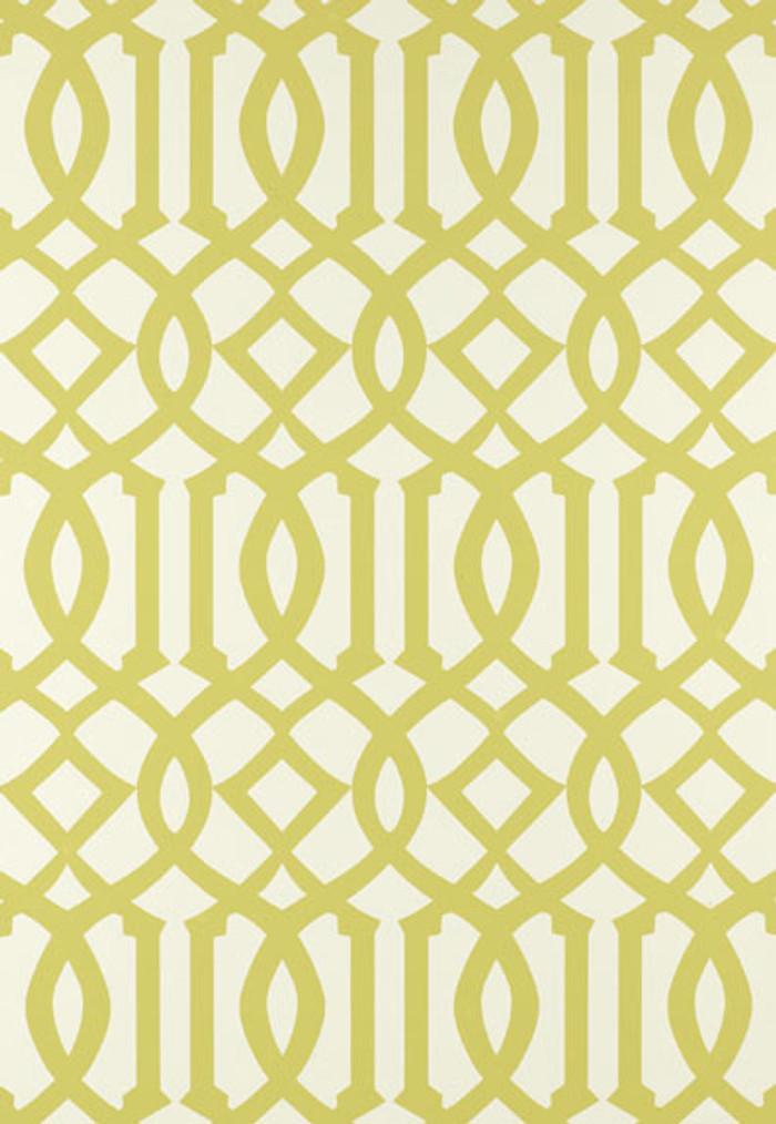 Schumacher Kelly Wearstler Imperial Trellis Citrine Wallpaper