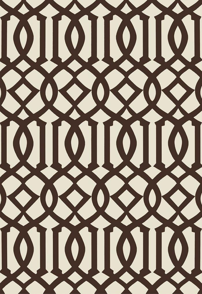 Schumacher Kelly Wearstler Imperial Trellis II Java/Cream Wallpaper